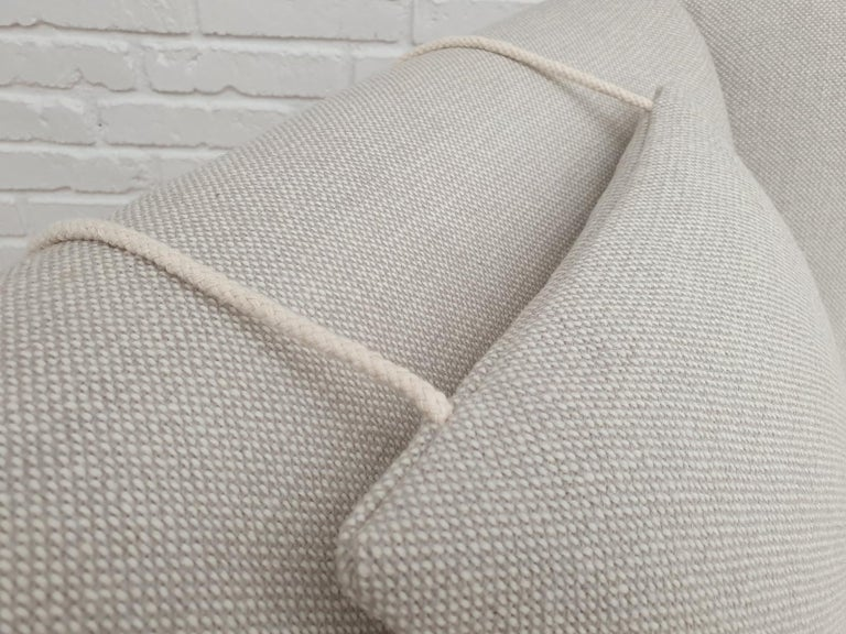 Scandinavian Modern Danish High-Backed Armchair, Kvadrat Wool by Nana Ditzel, Completely Renovated