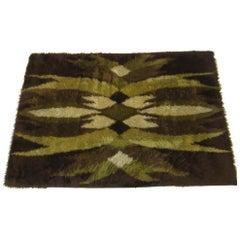 Danish High Pile Woven Wool Rya Rug