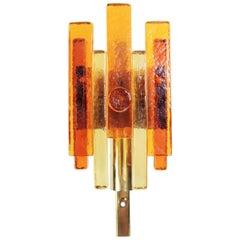 Danish Holm Sørensen Art Glass Wall Light for Hassel & Teudt, 1960s