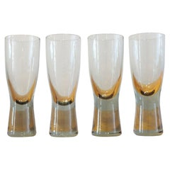 Danish Holmegaard Canada Smoked Glass Glasses by Per Lutken, Set of 4