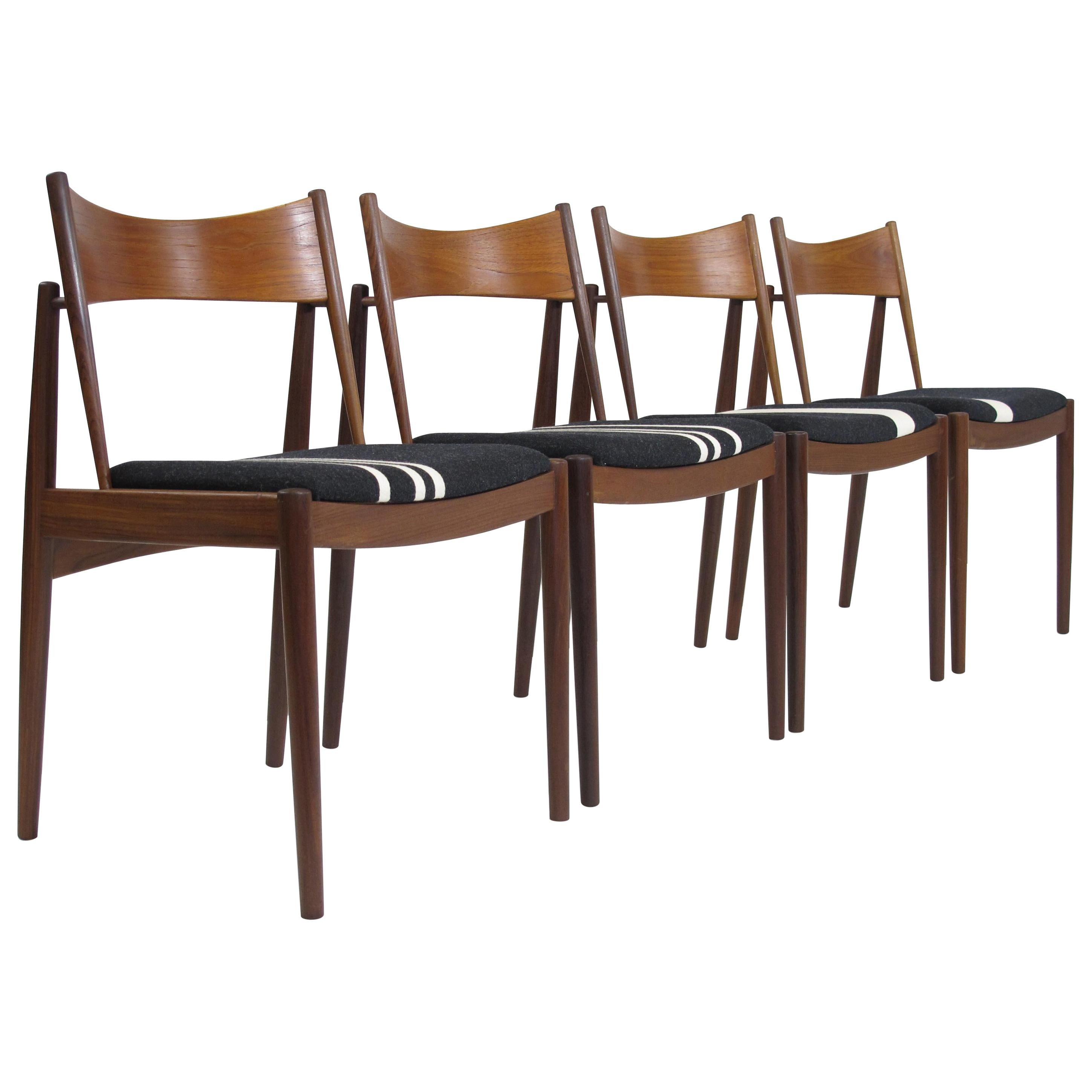 Danish H.W Klein Teak Dining Chairs, Set of Four