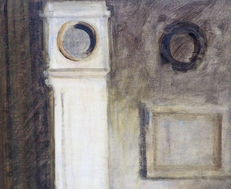 Very fine Danish interior painting in the style of Vilhelm Hammershøi (1864-1916), signed in monogram, 1923. Classic, but charming Danish interior painting.