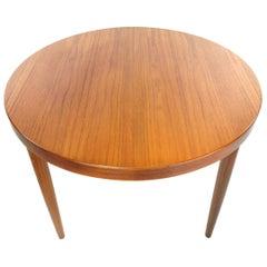 Danish Kai Kristiansen Round Teak Dining Table Midcentury, 1960s