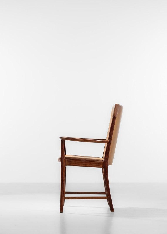Danish Kai Lyngfeldt Larsen Armchair Scandinavian Leather Chair Soren Willadsen For Sale 7