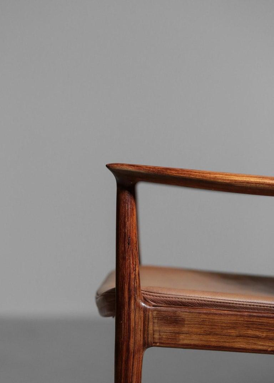 Danish Kai Lyngfeldt Larsen Armchair Scandinavian Leather Chair Soren Willadsen For Sale 8