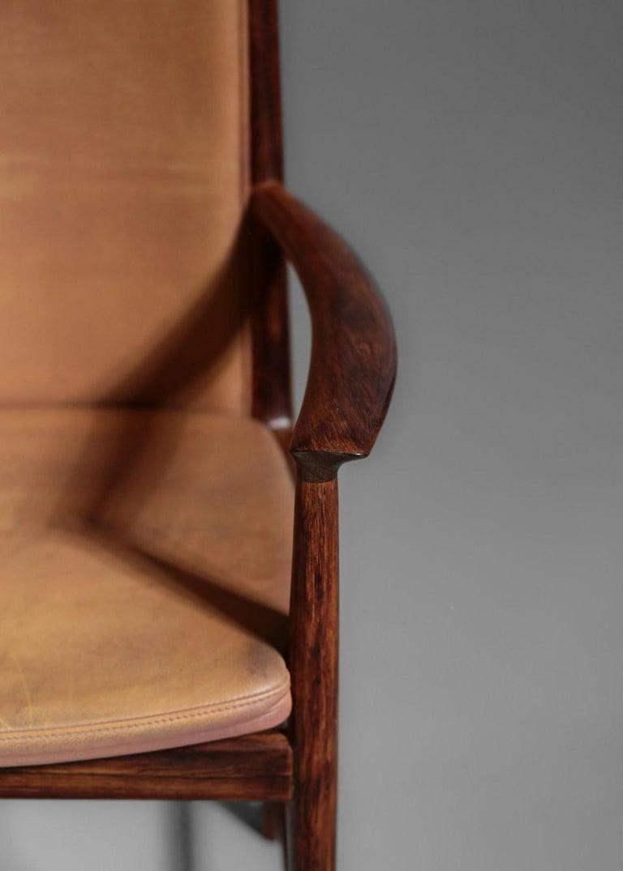 Danish Kai Lyngfeldt Larsen Armchair Scandinavian Leather Chair Soren Willadsen For Sale 9