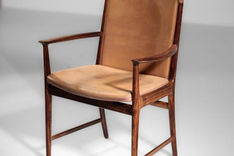 Mid-20th Century Danish Kai Lyngfeldt Larsen Armchair Scandinavian Leather Chair Soren Willadsen For Sale