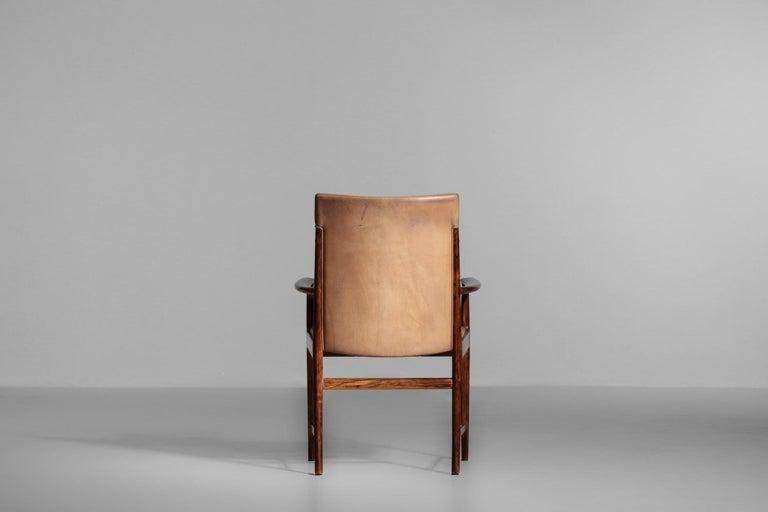 Danish Kai Lyngfeldt Larsen Armchair Scandinavian Leather Chair Soren Willadsen For Sale 4