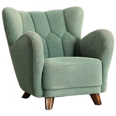 Danish Large-Scale 1940s Club Chair