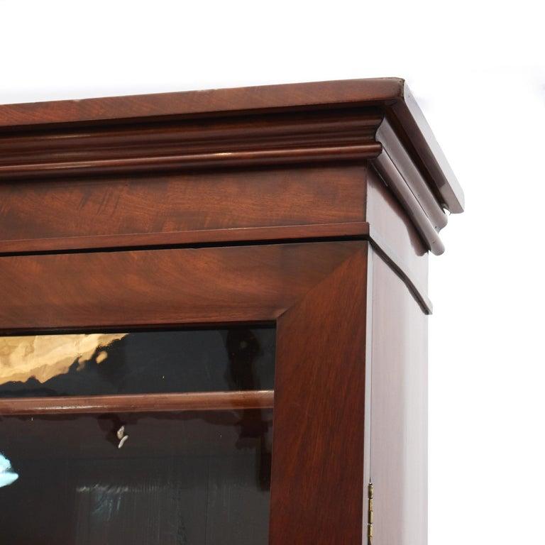 Danish Late Empire Mahogany Bookcase Cabinet For Sale 4