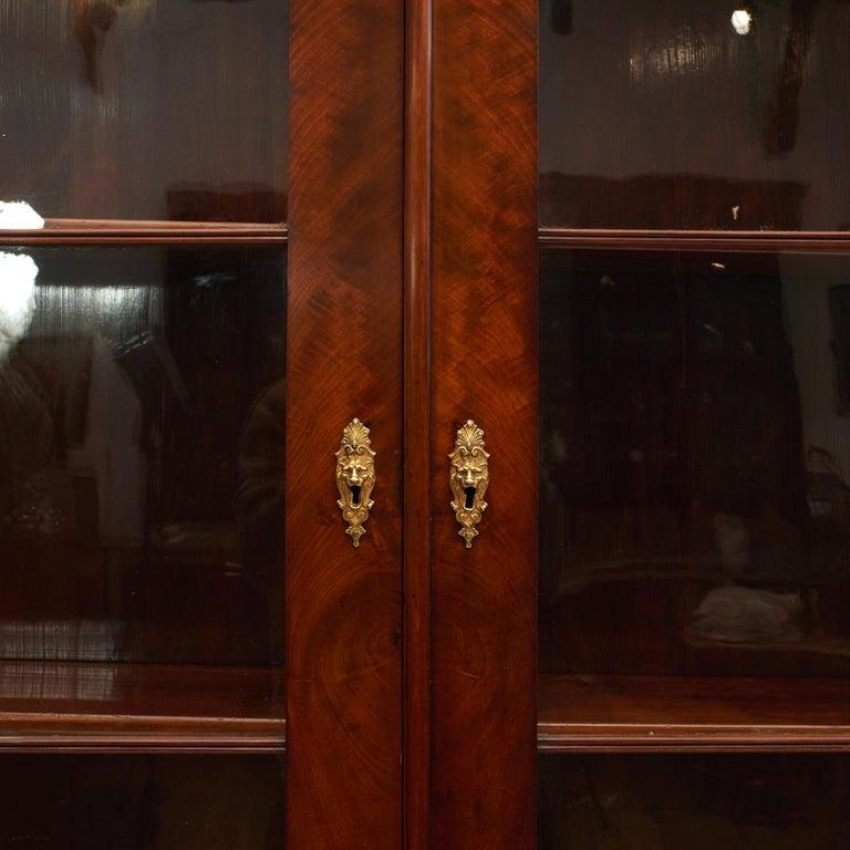 Danish Late Empire Mahogany Bookcase Cabinet For Sale 5