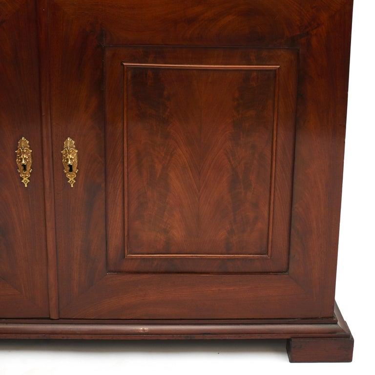 Danish Late Empire Mahogany Bookcase Cabinet For Sale 6