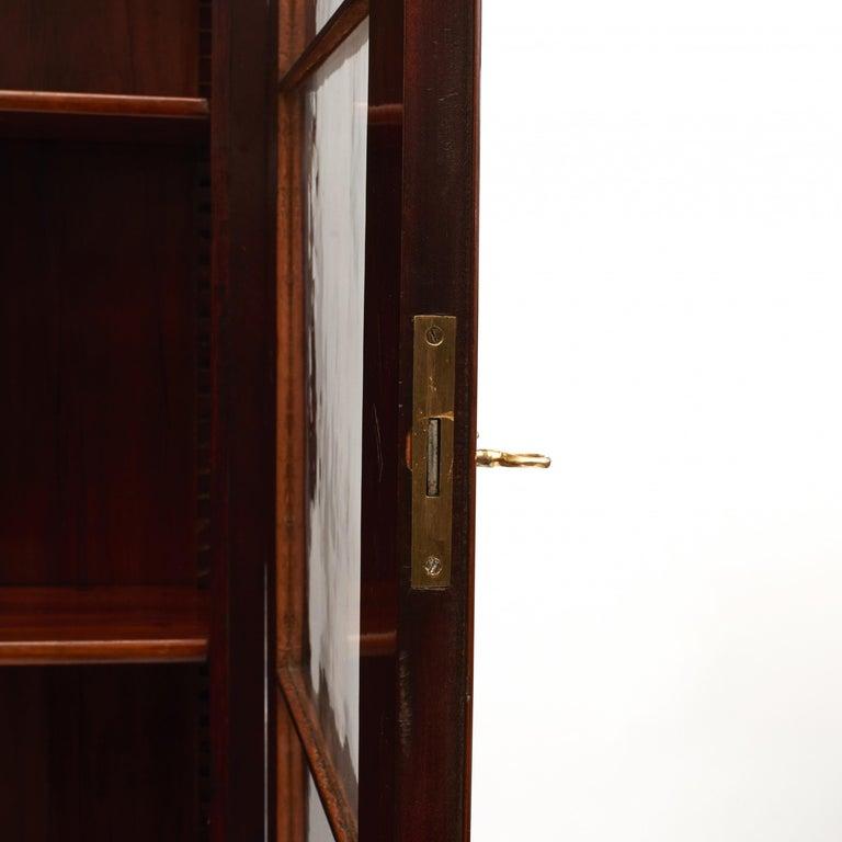 Danish Late Empire Mahogany Bookcase Cabinet For Sale 7