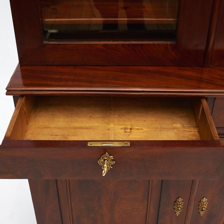 Danish Late Empire Mahogany Bookcase Cabinet For Sale 8