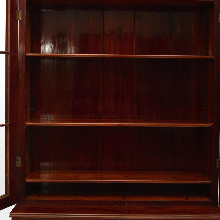 Danish Late Empire Mahogany Bookcase Cabinet For Sale 9