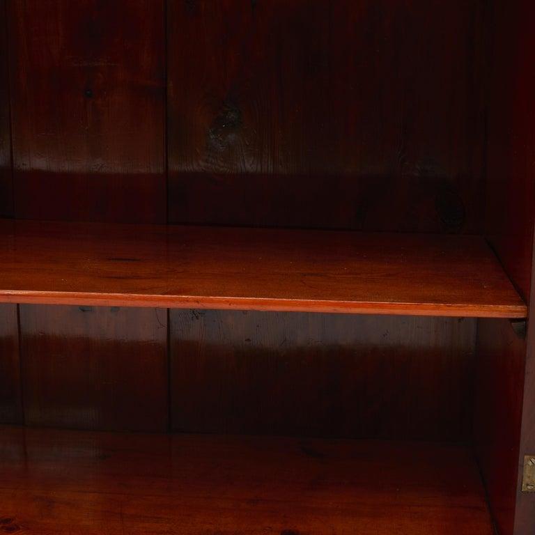 Mid-19th Century Danish Late Empire Mahogany Bookcase Cabinet For Sale