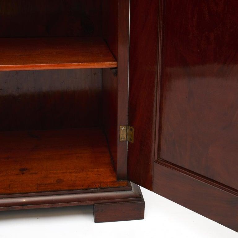 Danish Late Empire Mahogany Bookcase Cabinet For Sale 1
