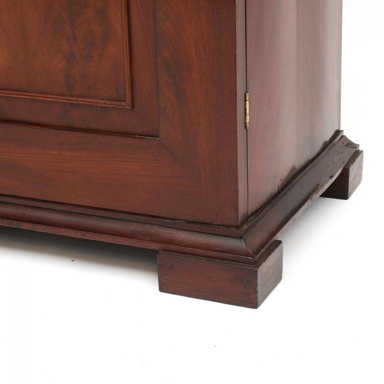 Danish Late Empire Mahogany Bookcase Cabinet For Sale 2