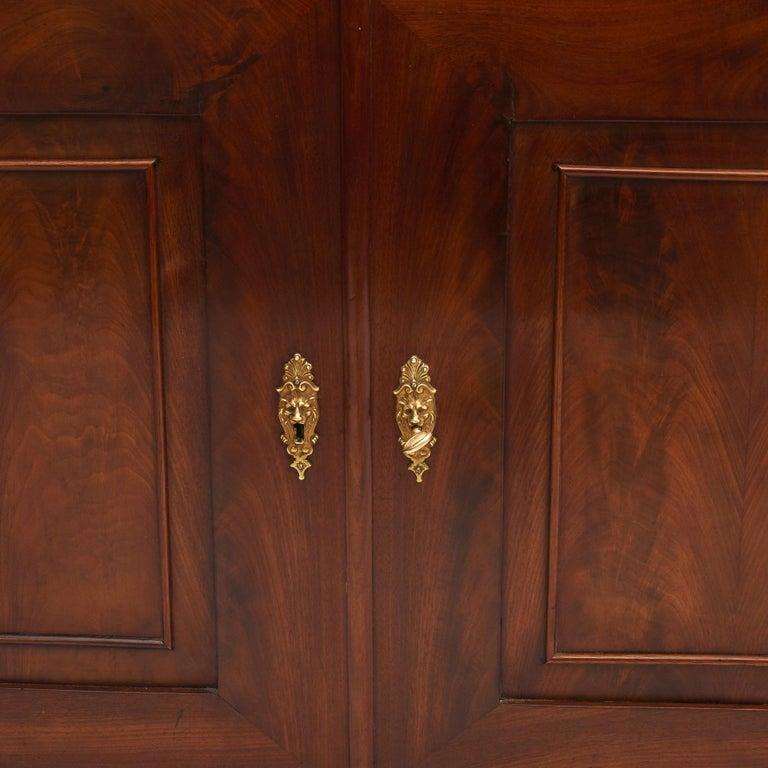 Danish Late Empire Mahogany Bookcase Cabinet For Sale 3