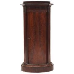 Danish Late Empire Oval Pedestal Cabinet