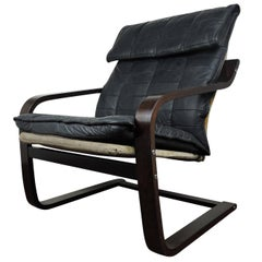Danish Leather Cantilever Chair