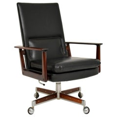 Danish Leather Desk Chair by Arne Vodder
