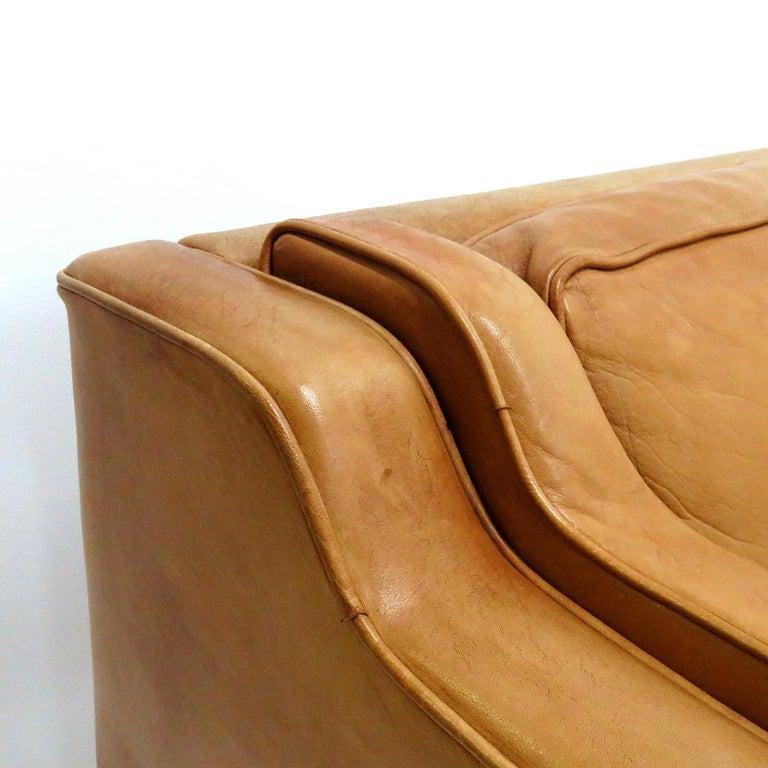 Danish Leather Sofa, 1960 5