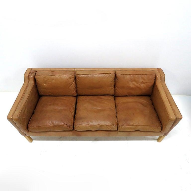 Scandinavian Modern Danish Leather Sofa, 1960