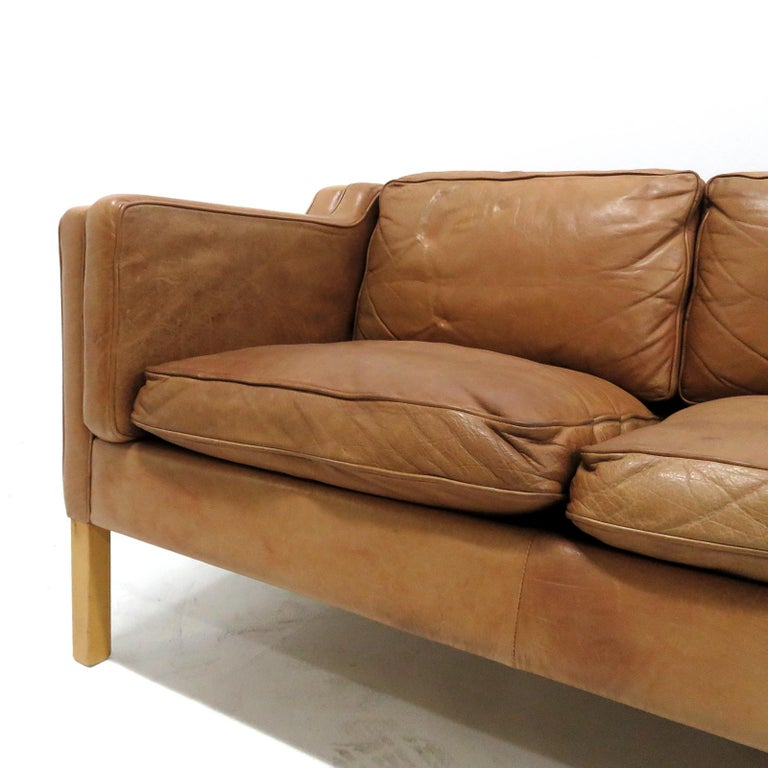 Mid-20th Century Danish Leather Sofa, 1960