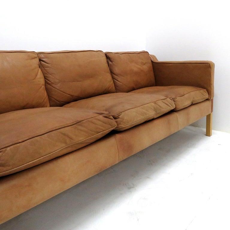 Danish Leather Sofa, 1960 2