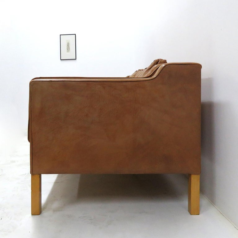 Danish Leather Sofa, 1960 3
