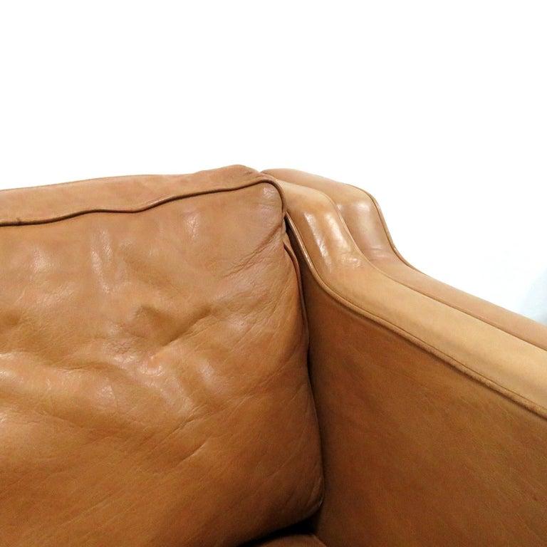 Danish Leather Sofa, 1960 4