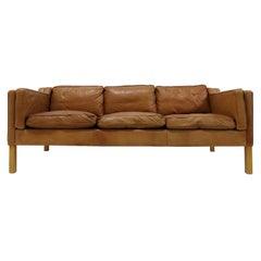 Danish Leather Sofa, 1960