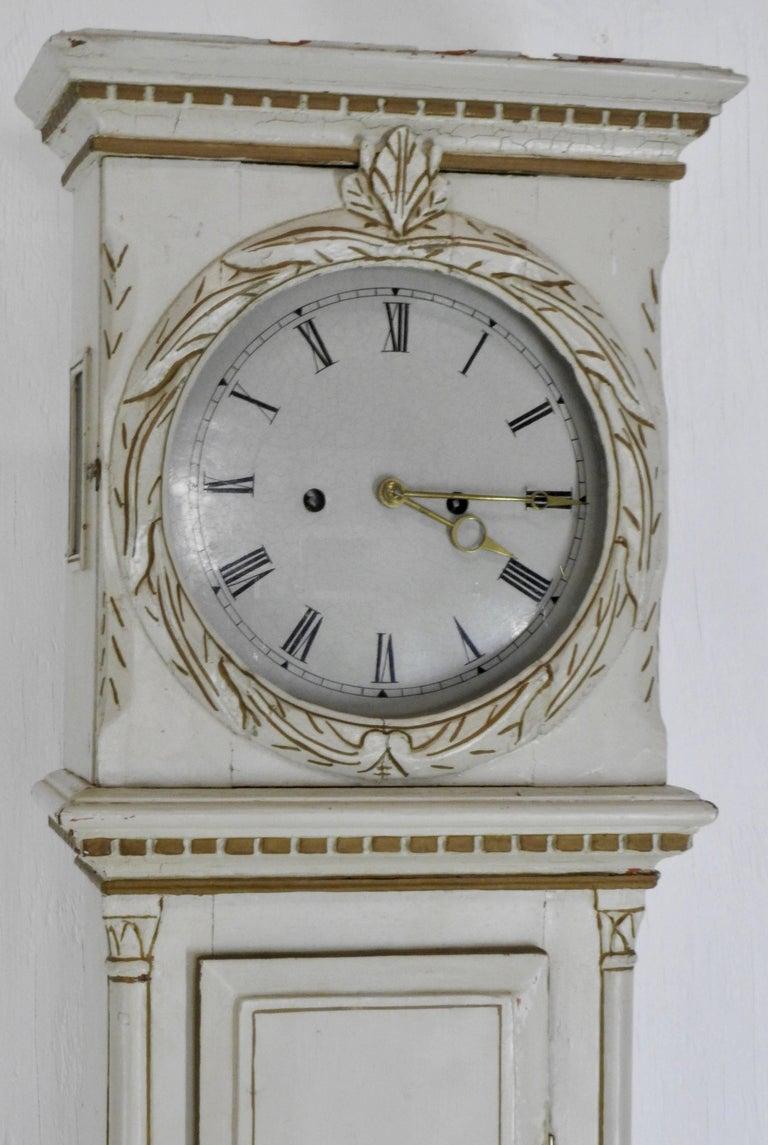 19th Century Danish Long Case Clock For Sale