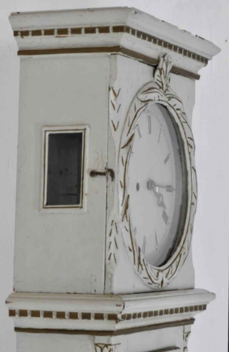 Glass Danish Long Case Clock For Sale