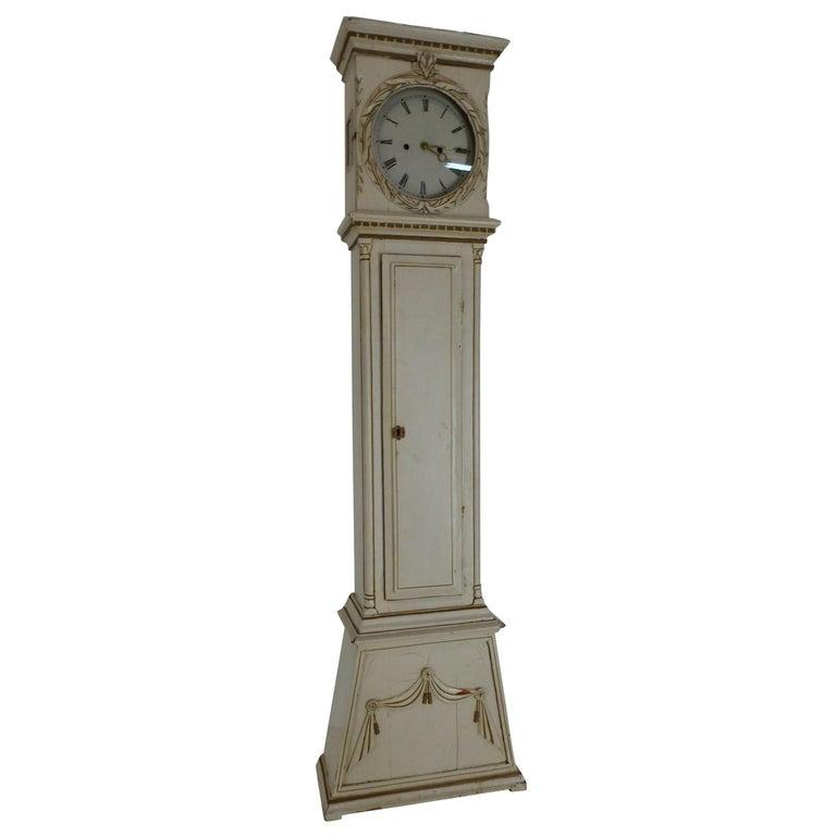 Danish Long Case Clock For Sale
