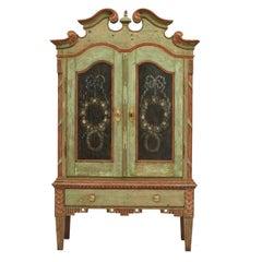Danish Louis XVI Cabinet in Original Paint