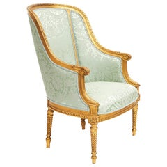 Danish Louis XVI Style Bergère Armchair, Royal Provenance, circa 1900