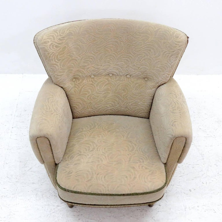 Scandinavian Modern Danish Lounge Chair, 1940s For Sale