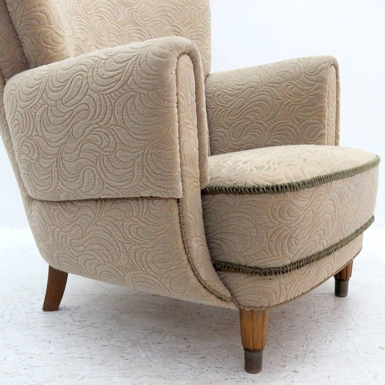 Danish Lounge Chair, 1940s For Sale 1