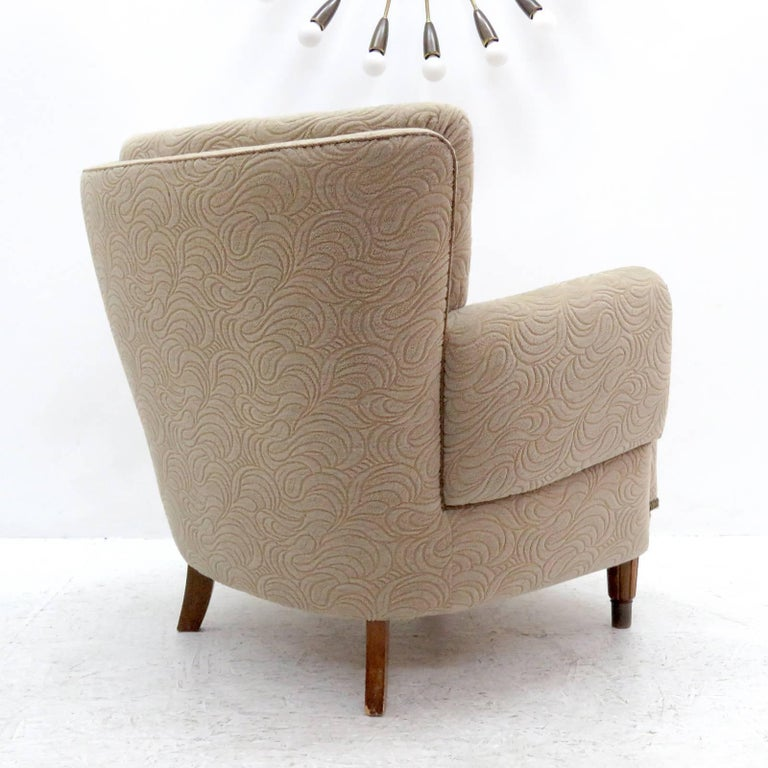 Danish Lounge Chair, 1940s For Sale 3