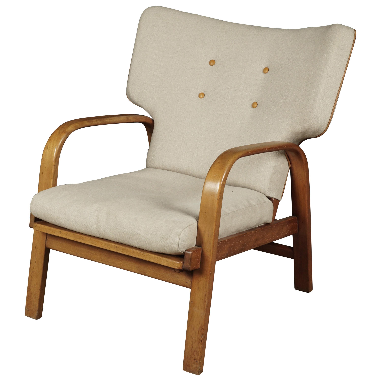 Vintage Danish Bauhaus Era Beech Desk Chair By Magnus Stephensen