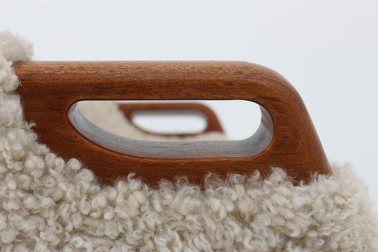 Danish Lounge Chair in Sheepskin, Model 55 by Kurt Østervig For Sale 4