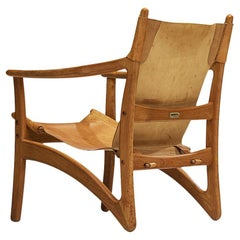 Danish Lounge Chair in Teak and Cognac Leather
