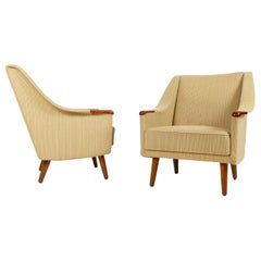 Danish Lounge Chairs with Teak Nails 1960s, Set of 2