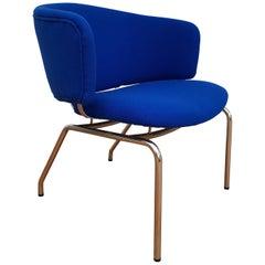 Danish Loungechair, 1970s, Kvadrat Wool by Nina Koppel, Completely Restored