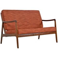 Danish Loveseat Settee Sofa by Ole Wanscher for France & Daverkosen
