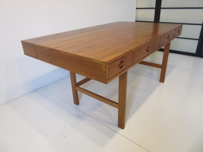 Danish Lovig Flip Top Teak Desk for Dansk  For Sale 5