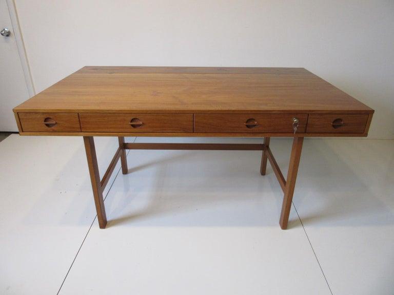 Danish Lovig Flip Top Teak Desk for Dansk  For Sale 6