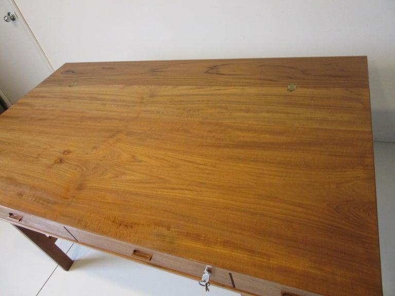 Danish Lovig Flip Top Teak Desk for Dansk  For Sale 7